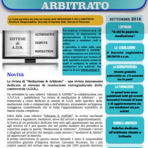 """RIVISTA: """"mediazione & arbitrato"""""""
