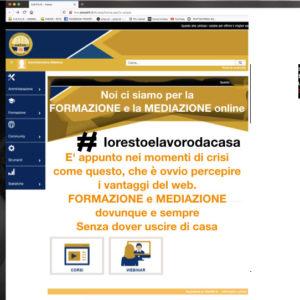 Corsi per mediatori civili e commerciali e per formatori in e-learning (ministerialmente autorizzati)